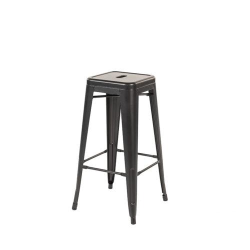 Barstoel zwart steel